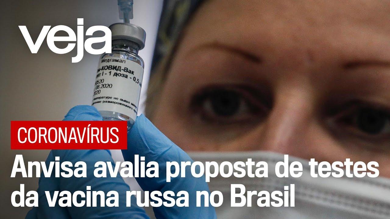 Anvisa avalia proposta de testes da vacina russa contra o coronavírus no Brasil