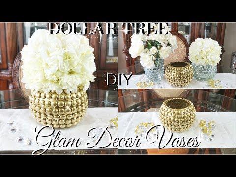 DIY DOLLAR TREE GLAM VASES | DOLLAR STORE DIY GLAM VASES | DIY ROOM DECOR 2017 PETALISBLESS 🌹
