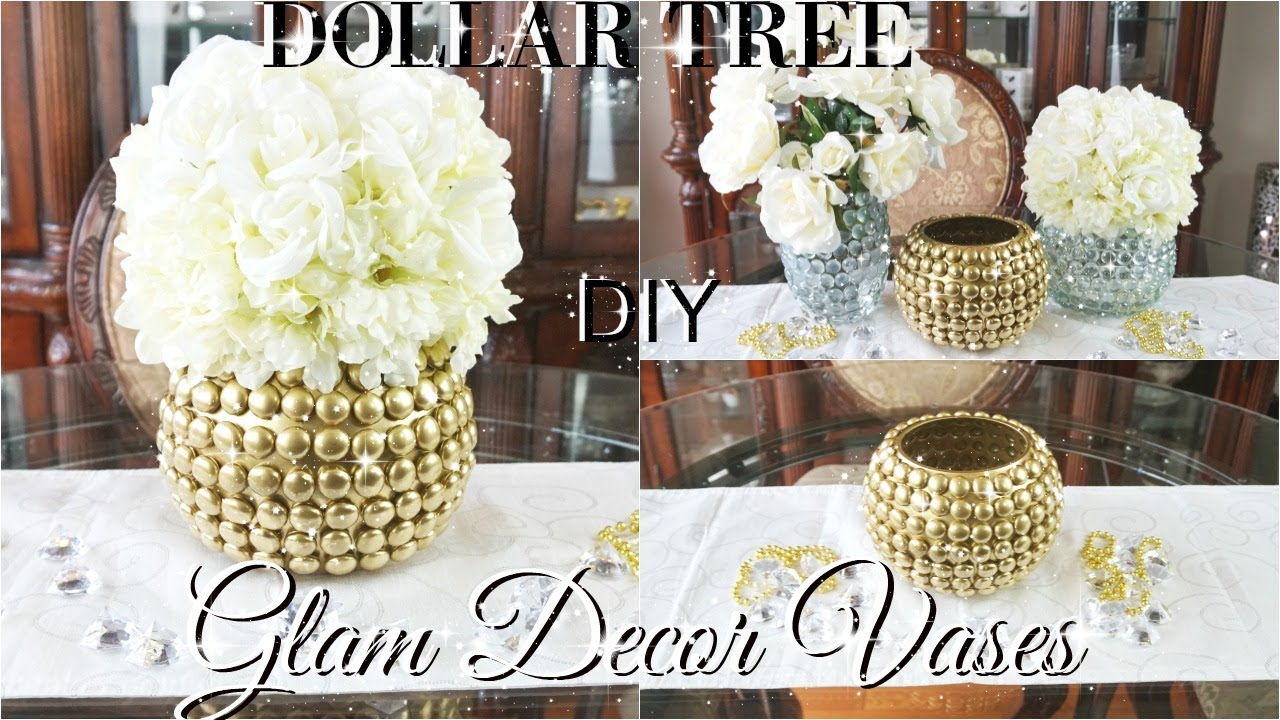Diy dollar tree glam vases dollar store diy glam vases for Bathroom decor dollar tree