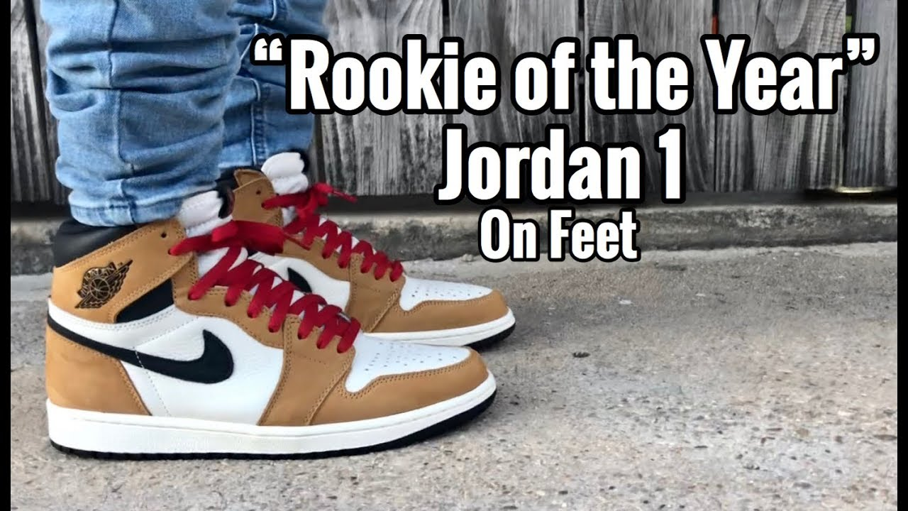 "bac0dd69079306 Air Jordan 1 ""Rookie of the Year"" on feet - YouTube"