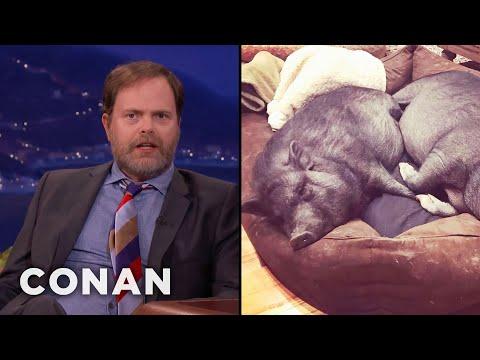 Rainn Wilson Went Vegan For His Pet Pigs   CONAN on TBS