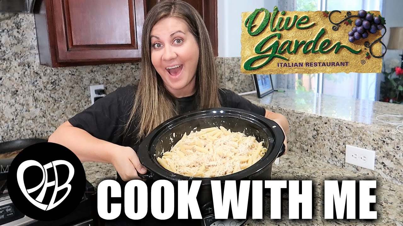 Cook With Me Slow Cooker Olive Garden Chicken Pasta Crockpot Olive Garden Chicken Pasta Recipe Youtube