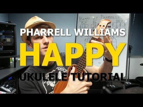 Happy Pharrell Williams Ukulele Tutorial Youtube