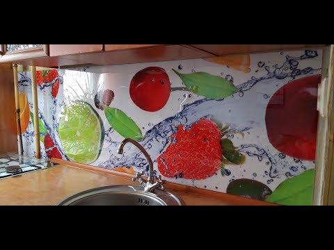Кухонный фартук заменитель стекла