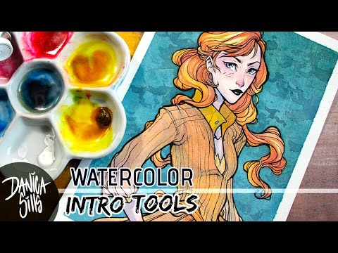Watercolors Tools to Start With ♦ Storm in the East ♦ Watercolor Speedpaint