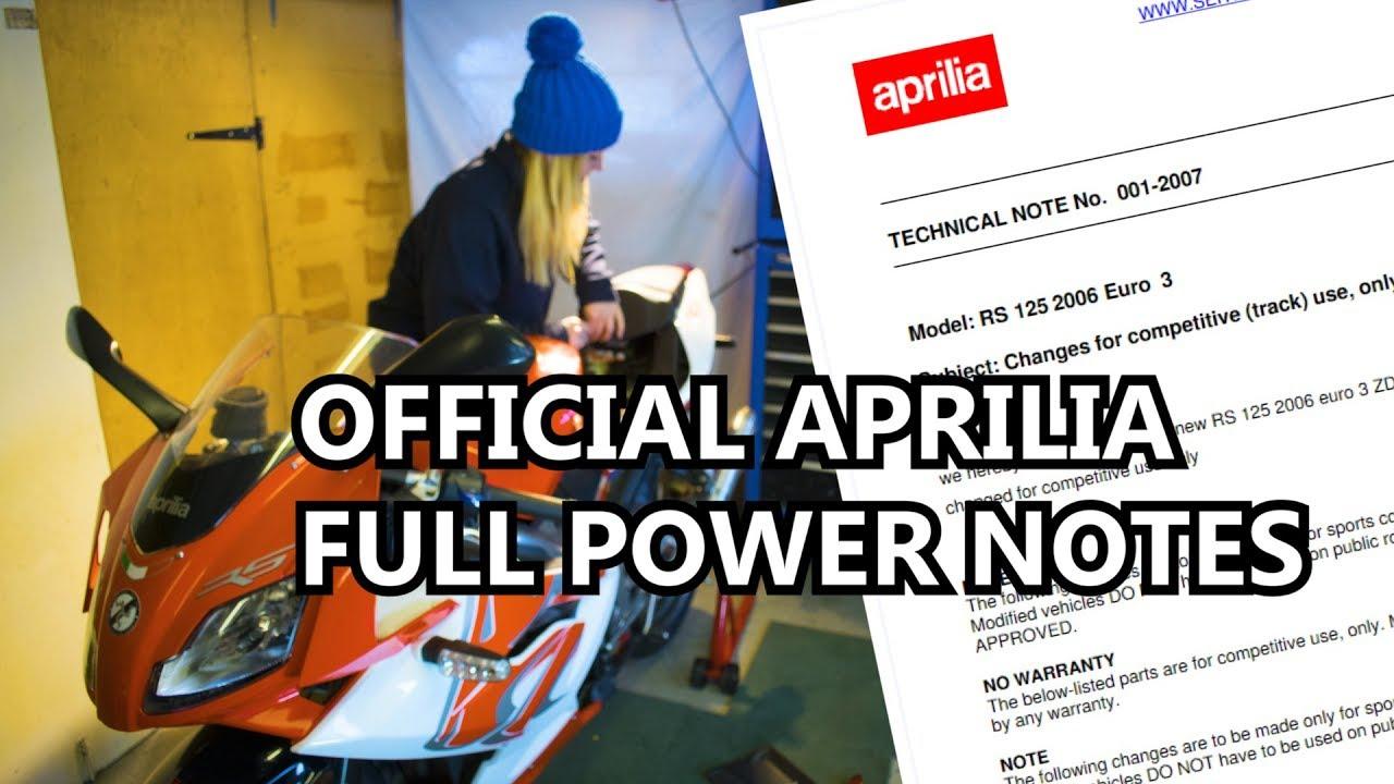 Derestrict The Aprilia RS125 - Full Power 2 Stroke Powervalve