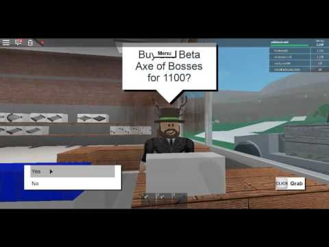 roblox lumber tycoon 2 how to get the beta axe
