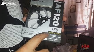 corsair af120 fan white led quiet edition unboxing pinoy
