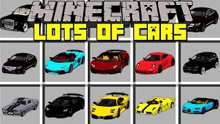 Minecraft Lots of Cars Mod l DRIVE AND RACE EXPENSIVE CARS! l Modded Mini-Game