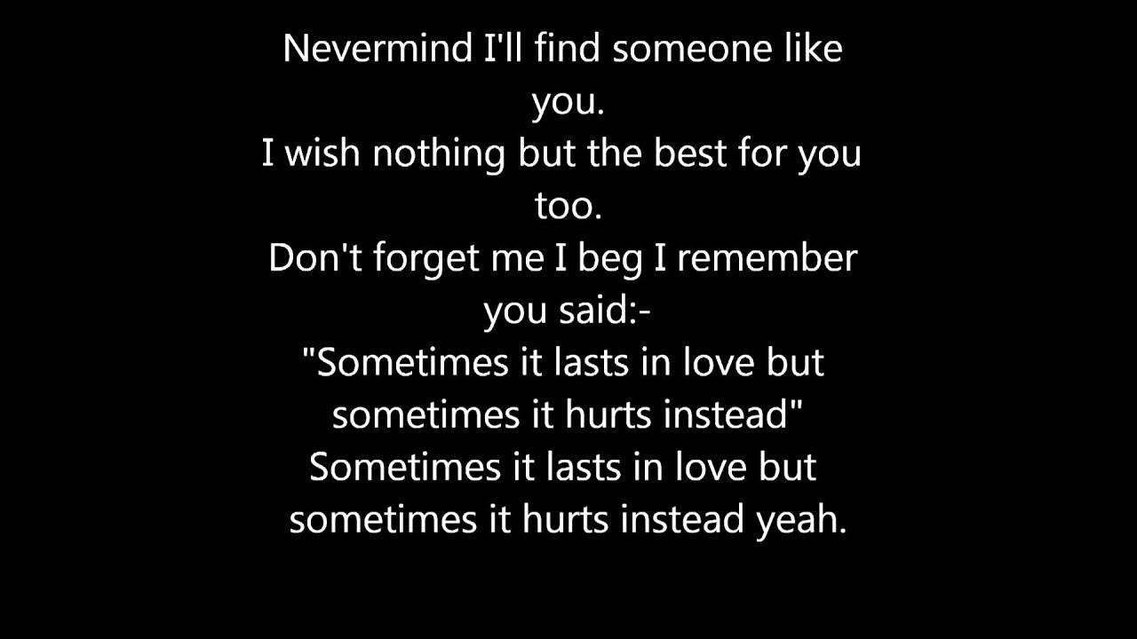 Adele - Someone Like You (Lyrics On Screen) - YouTube