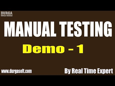 Manual Testing tutorial || Demo - 1 || by Real Time Expert on 27-11-2019 thumbnail