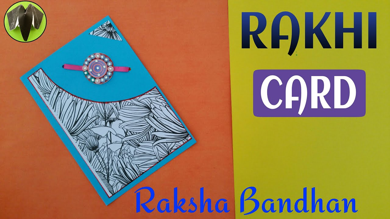 Rakhi card greetings card for raksha bandhan diy handmade rakhi card greetings card for raksha bandhan diy handmade tutorial scrapbook m4hsunfo