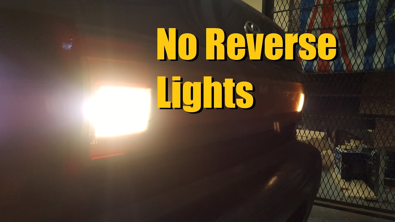 No Reverse Lights Toyota Camry Anthonyj350 Youtube Fuse Diagram For 97