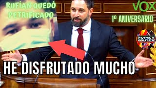 🔥SANTIAGO ABASCAL dijo RUFIÁN  lo que millones de españoles piensan / Un año de la Moción de Censura