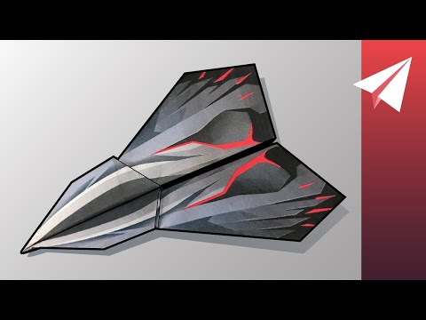 How To Make The A-9 Eagle Paper Airplane — Works With PowerUp Motors! (2.0, 3.0, And 4.0)
