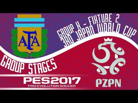 Argentina vs. Poland - 3rd Japan World Cup - Fixture 2 - PES2017 - 60fps