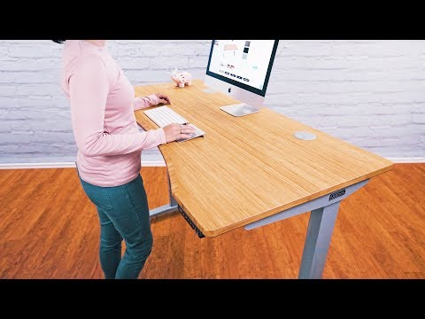 Bamboo Stand Up Desks With 1