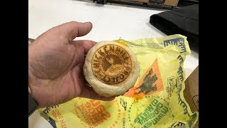 Worlds First Laser Etched McDonald's Sausage McMuffin with Egg