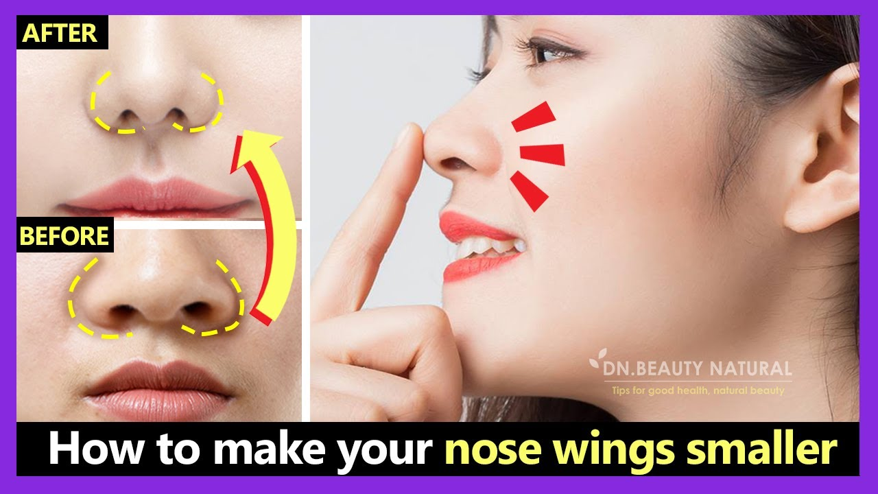 Only 2 Mins How To Make Your Nose Wings Smaller Big Nose Look Smaller Japan Nose Exercises Youtube
