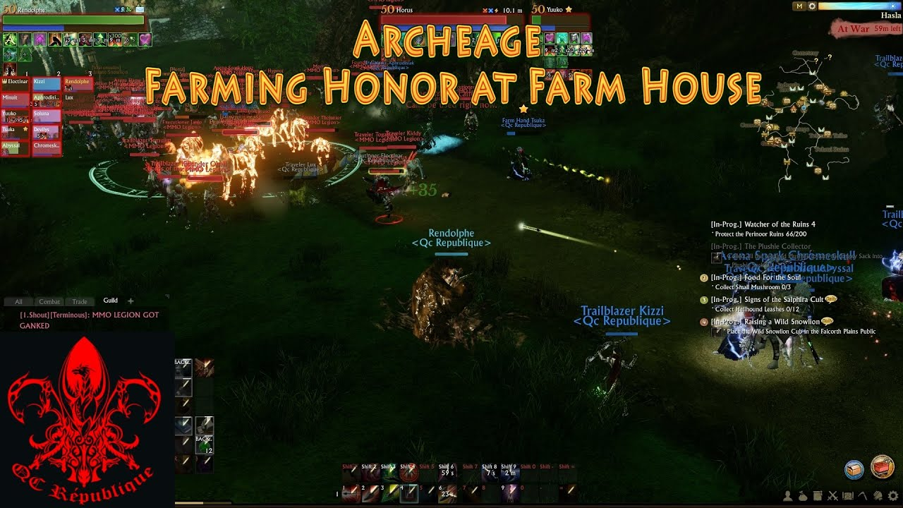 Archeage PvP Honor Farming At Farm House YouTube