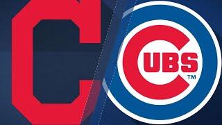 Bauer, Tribe's bats lead rout vs. Cubs, 10-1: 5/22/18