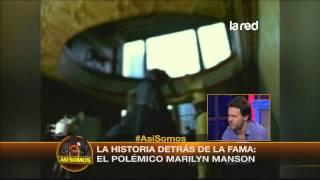 Salfate habla del excentrico Marilyn Manson
