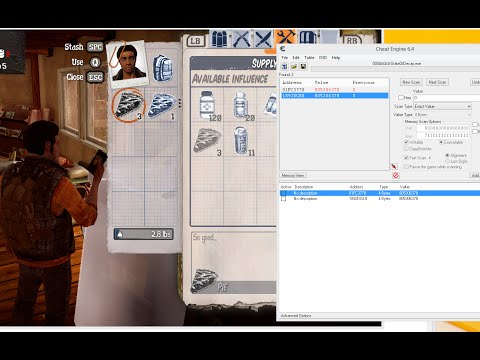 State Of Decay Year One ITEM HACK/SPAWN Using Cheat Engine 6.4