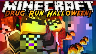 Minecraft Parkour : DRUG RUN HALLOWEEN EDITION FINALE! (ATTACK OF THE SQUIDS!)