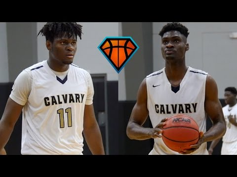 6'8 Solomon & 7'0 Victor Uyaelunmo Lead Calvary Christian Academy To Home Opening Win!!