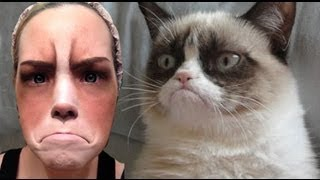 Grumpy Cat Halloween Makeup Tutorial - EASY!!
