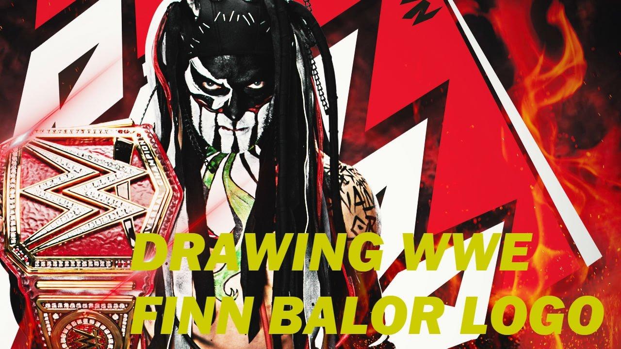 drawing wwe finn balor logo youtube