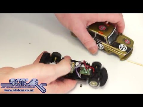 CBD wheel modification – Carrera BMW 2002 Slotcar