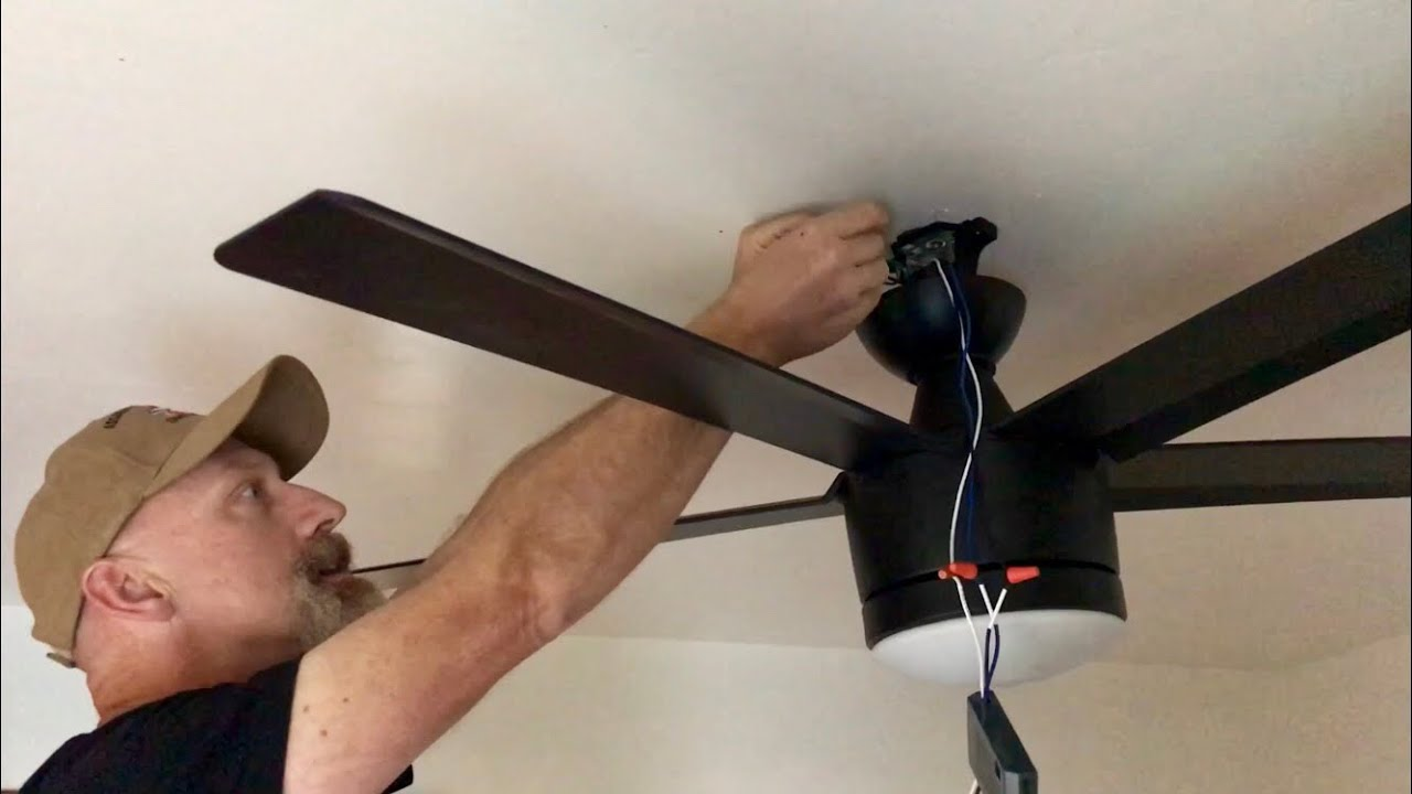 How To Install A Ceiling Fan With Remote Control By Tom Goodmorning 111 Vlog Youtube