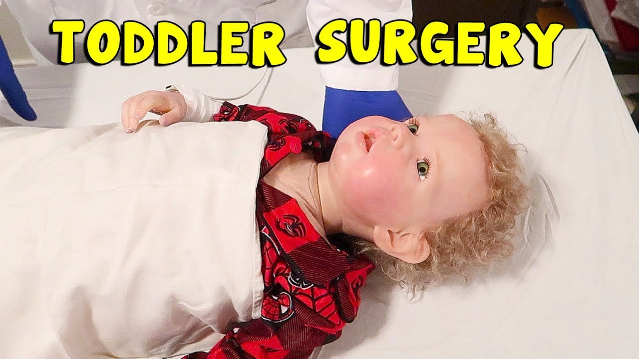 Reborn Baby Doll Surgery To Fix Toddler Reborns Floppy Head Youtube