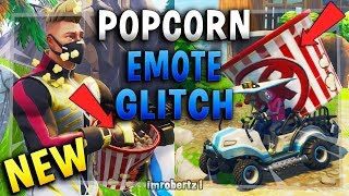 Fortnite Giant Emote Bug How to Become Popcorn Glitch