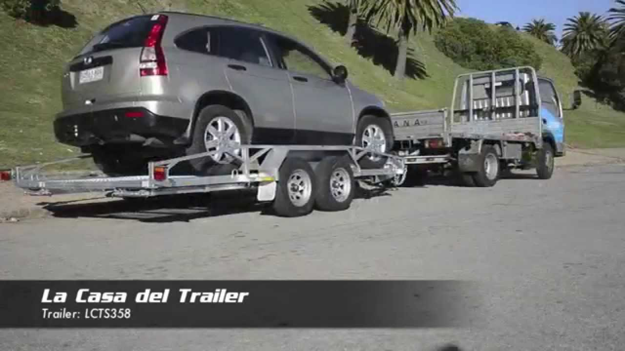 Lcts358 Trailer Para Traslado De Autos Youtube