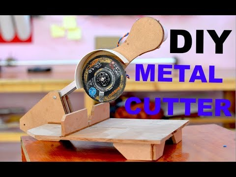 How to make a Metal Cutting Machine (DIY Metal Cutter)