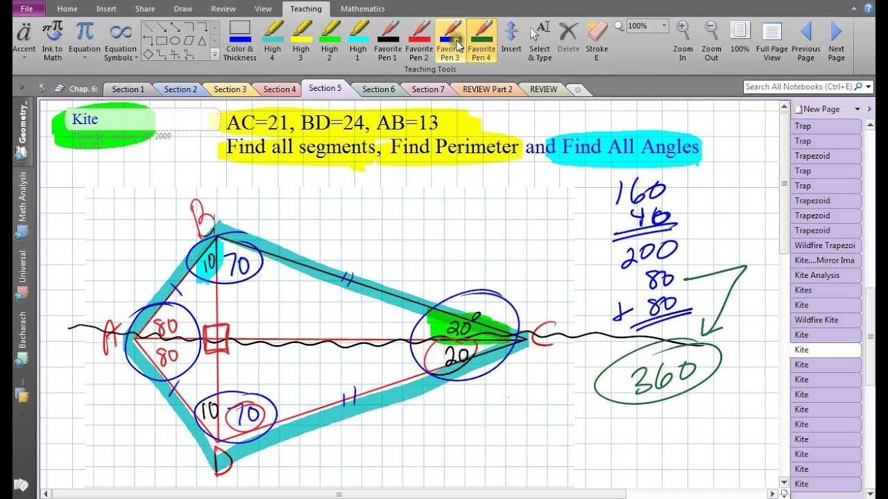Kite finding angles and segments youtube kite finding angles and segments ccuart Images