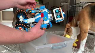 Lego Vernie The Robot vs Funny Dogs | Pretend Play | Fun Surprise for Kids