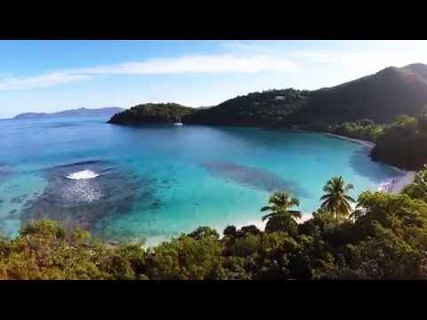 Beautiful St John, Virgin Islands Aerial Tour