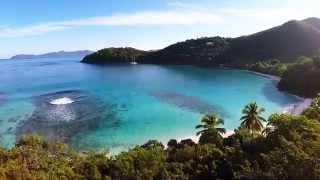 Beautiful St John, Virgin Islands Aerial Tour