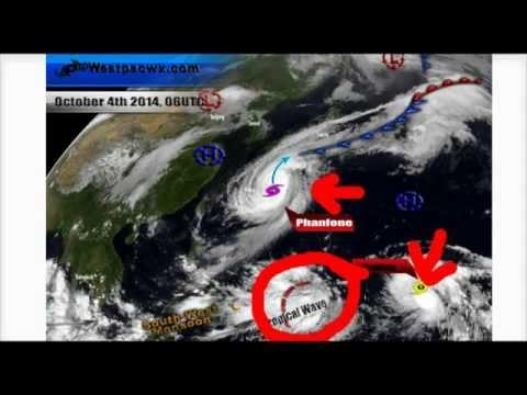 Typhoon Phanfone Will Move Near Tokyo Monday AM