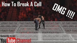 how to break a cell in wwe 2k17   kevin owens vs seth rollins   hell in a cell