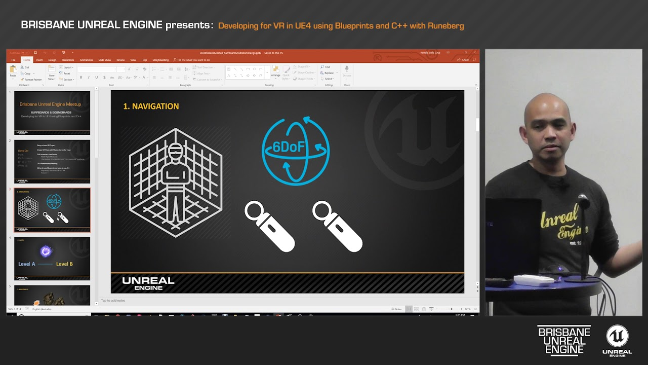 Developing for VR in UE4 using Blueprints and C++ with Ronald Dela Cruz