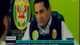 ALUMNO DE COLEGIO MILITAR ASESINA DECORADOR - TV2.LATINA 22 OCT 17
