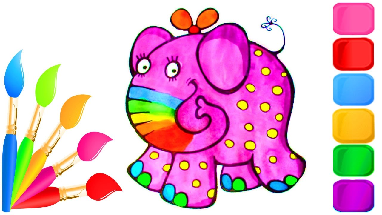 how to color cute baby animals coloring pages for kids to learn
