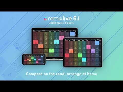Compose on the road, arrange at home! I Remixlive 6.1