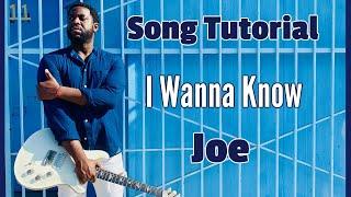 [R&B Guitar Tutorial]  How to Play I Wanna Know by Joe