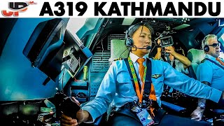 Piloting Tricky Approach to Kathmandu | Airbus Cockpit View