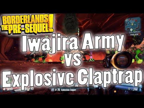 Borderlands: The Pre-Sequel | Iwajira Army vs Explosive Claptrap
